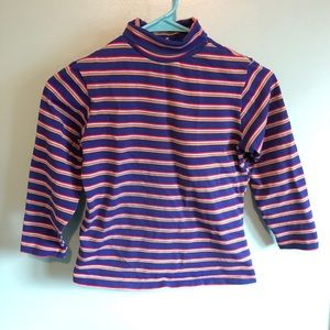 VTG 60s Striped Turtleneck Top